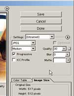 PhotoShop 7.0 Save Area