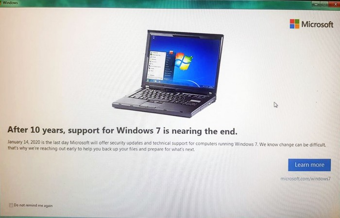 windows7 end support